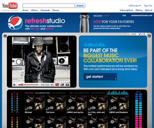 Pepsi Refresh Studio Remixer Contest
