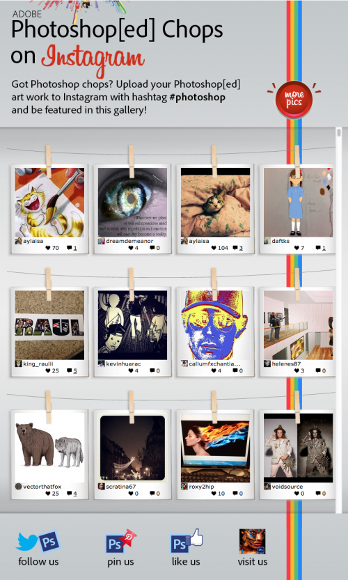 Adobe Photoshop Chops Instagram Gallery - Demo